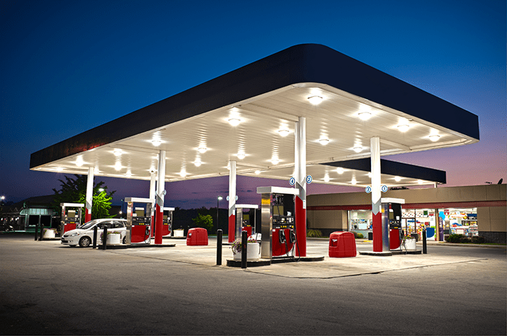 outdoor lighting gas station